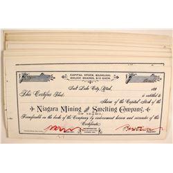 Niagra Mining and Smelting of Idaho Stocks