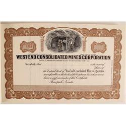 West End Consolidated Mines Full Stock Book