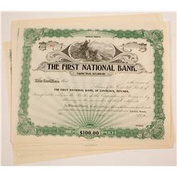 First National Bank of Lovelock, NV Stocks