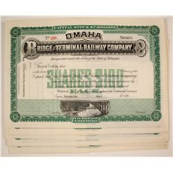 Bridge and Terminal Railway Company Stock Certificates