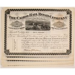 Cairo Rail Road Company Stock Certificates