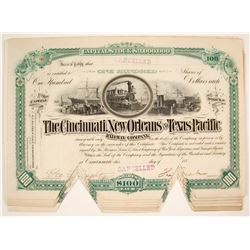Cincinnati, New Orleans and Texas Pacific Railway Company Stock Certificates