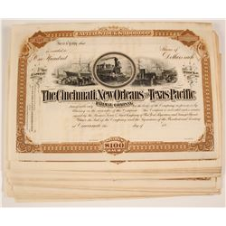 Cincinnati, New Orleans and Texas Pacific Stock Certificates