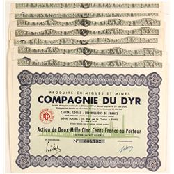 Compagnie Du Dyr Mining Bond Certificates