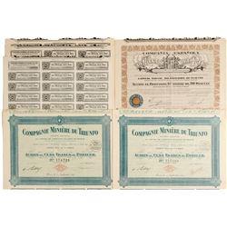 Compagnie Miniere Du Triunfo & Compania Espanola Bond Certificates