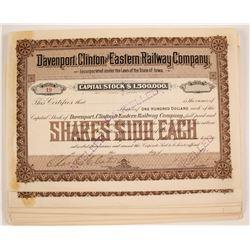 Davenport, Clinton and Eastern Railway Company