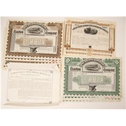 Duluth-Superior Traction Company Stock Certificates (Specimens) & Flint and Pere Marquette Railroad