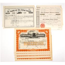 East Coast Stock Certificates:  PA, CT & NY, Three Different