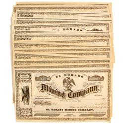 Eldorado Mining Company Stock Certificates