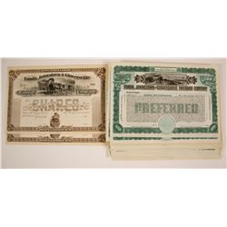 Fonda, Johnstown and Gloversville Railroad Company Stock Certificates