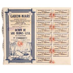 Gabon - Niari Diamond Mine Bond Certificate (African)