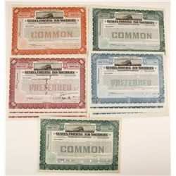 Geneva, Corning and Southern Railroad Company Stock Certificates