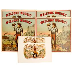 Gold Hunter / Welcome Nugget Labels