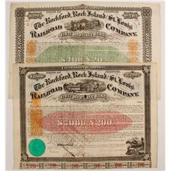 Gthe Rockford, Rock Island and St. Louis Railroad Company Bond Certificates