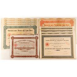 Indumine & Societe Des Mines De Cho Don Mining Bond Certificates
