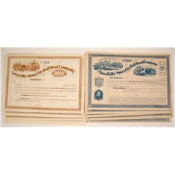 Iowa Falls and Sioux City Railroad Company Stock Certificates