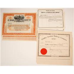 Jamaica and Brooklyn Road Company, Kings County Elevated Railroad Company, Lindley Avenue Railway Co