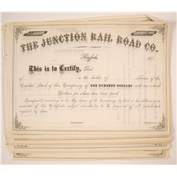 Junction Rail Road Company Stock Certificates (Buffalo)