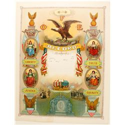Lithograph Fraternal Order of Eagles