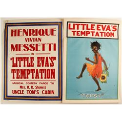 Lithographs of Henrique Vivian Messetti's in Little Eva's Temptation