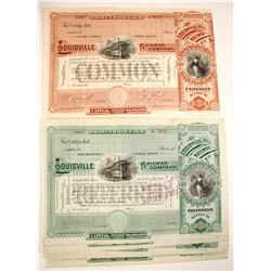 Louisville Railway Company Stock Certificates