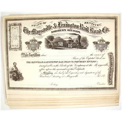 Maysville & Lexington Railroad Company, Northern Division Stock Certificates