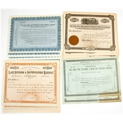 Michigan Area Stock Certificates (four types)