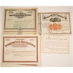 Midwest Railroad Companies Stock Certificates (3 different)