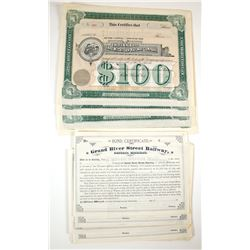 Midwest Railway Stock & Bond Cdertificates, Michigan and Indiana (2 Different)