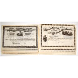 Milwaukee Lake Shore and Western Railway Company Stock Certificates, 2 types