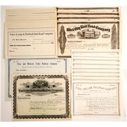 Miscellaneous New York State Railroad Companies  stocks