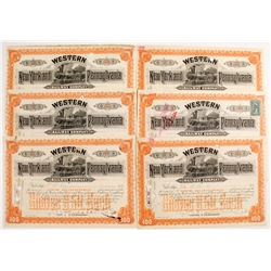 New York and Western Pennsylvania Railway Company Stock Certificates