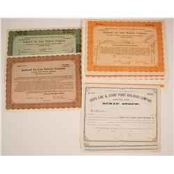 New York, Pennsylvania Railroad Stock Certificates , Three Different