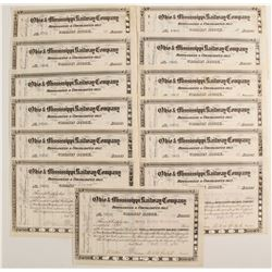 Ohio & Mississippi Railroad Company Stock Certificates
