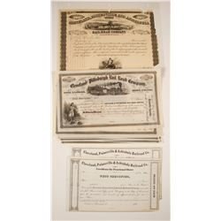 Ohio Railway Stock Certificates (2 Different)