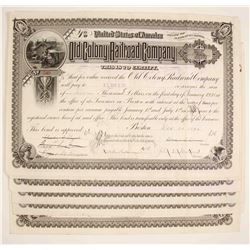 Old Colony Railroad Company Stock Certificate - Massachusetts