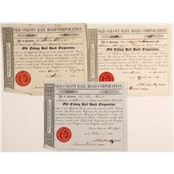 Old Colony RailRoad Corporation Stock Certificates
