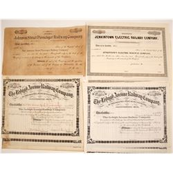 Pennsylvania Stock Certificates, Three Different