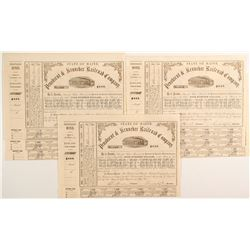Penobscot & Kennebec Railroad Company Bond Certificates