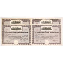 Philadelphia and Trenton Railroad Company Stock Certificates