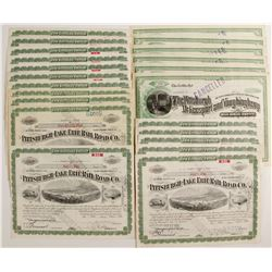 Pittsburgh Railroad Stock Certificates (2 Different)