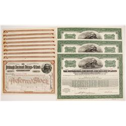 Pittsburgh, Cincinnati, Chicago and St. Louis Railroad Company Stock Certificates and Bond Certifica