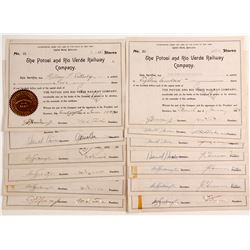 Potosi and Rio Verde Railway Company Stock Certificates