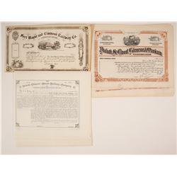 Railroad Stock Certificates: 2 MI & 1 MN, Three Different