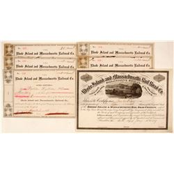 Rhode Island and Massachusetts Railroad Company Stock Certificates