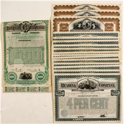Rock Island and Peoria Railway Company Bond Certificates & Reading Company Bond Certificates