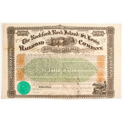 Rockford, Rock Island and St. Louis Railroad Company Bond Certificates