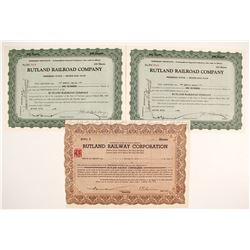 Rutland Railroad Company Stock Certificates