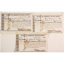 Saratoga and Schenectady Railroad Company Stock Certificates