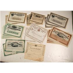 Six Different Cincinnati Railroad Stock Certificates